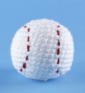Free Crochet Pattern baseball mlb little league gift toy
