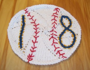 Free Knit Pattern, MLB, Dishcloth, Gift, Green