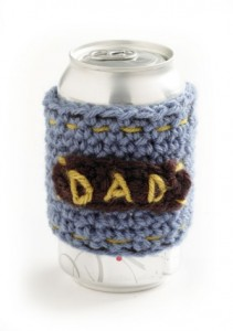 Free Crochet Pattern Father's Day Drink Cozy Can Beer Gift Man