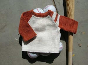 free knitting pattern mlb baseball baby child pullover raglan