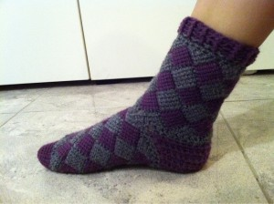 Free Crochet Pattern Crochet Entrelac Socks Father's Day Gift Ideas
