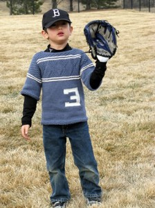 Free knitting pattern, baseball jersey, mlb, child, toddler