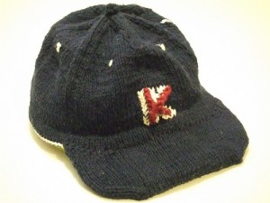 Free Knitting Pattern MLB Little League Adult Men Cap