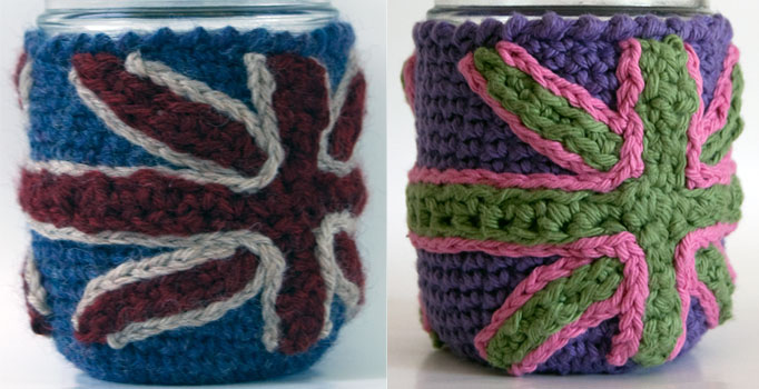 Free Crochet Pattern Mason Jar Cozy Wool Cotton