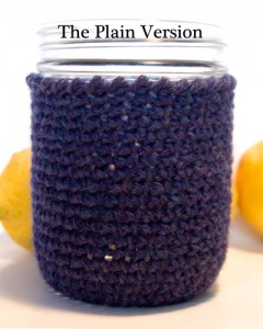 Free Crochet Pattern Mason Jar Cozy