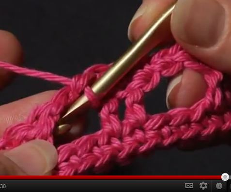 Crocheting Into Chain : Video Tutorial: Working into the Chain vs. the Chain Space
