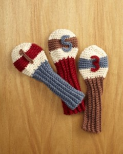 Free Crochet Pattern Golf Club Covers Traditional Classic Father's Day Gift