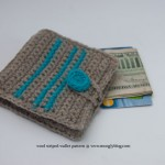 Wool Striped Wallet