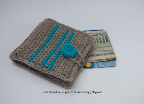 Crochet Wallet : Wool Striped Wallet: free crochet pattern at www.mooglyblog.com