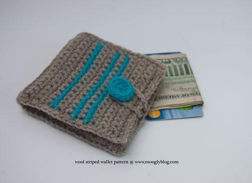 Free Pattern Wool Striped Wallet