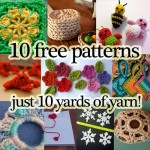 free crochet patterns small amount of yarn just a few yards ten list links