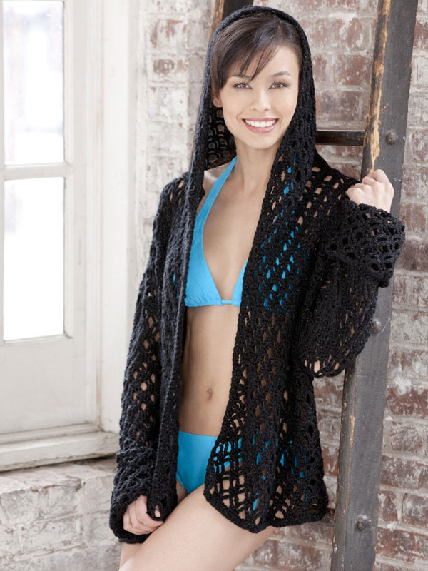 Crochet cover ups for swimsuit season pool swim coverup robe free crochet pattern dt1010fo