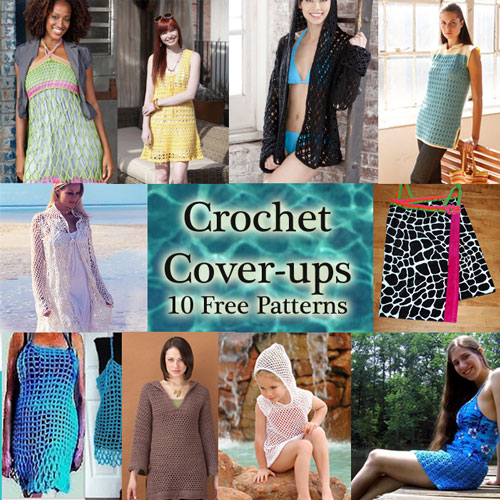 Crochet Swimsuit Cover-ups: 10 Free Patterns pool beach