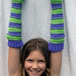 stripes armwarmers legwarmers crochet free pattern child kids