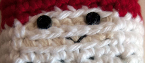 gnome cozy cover case free crochet pattern buttons embroider face tutorial sewing easy coolpox cybershot nikon sony canon kodak
