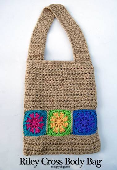 Riley Cross Body Bag: Free Crochet Pattern purse satchel pouch lined