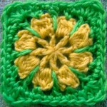 Riley Flower Square Motif free crohet pattern