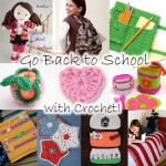free crochet patterns school fall autumn supplies backpacks gifts kids children college high school notebooks pencils