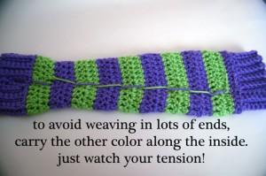 stripe arm warmers leg kid tween teen gift free crochet pattern