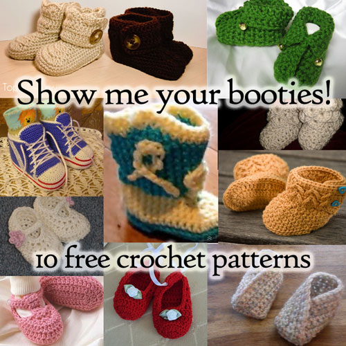 Free Crochet Pattern Baby Gifts : Show Me Your Booties - 10 Free Crochet Patterns!