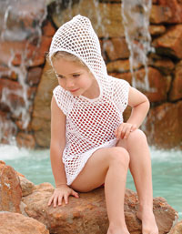 Splash 'n' Fun Cover-up free crochet pattern child girl boy swimsuit pool beach