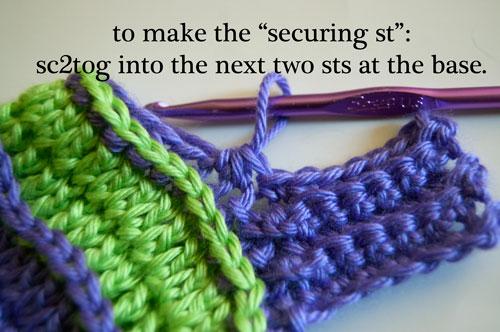 sweet striped arm warmers free crochet pattern