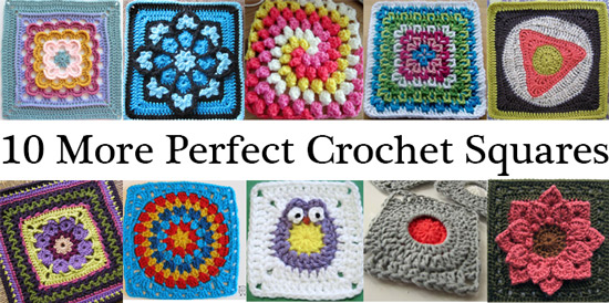 perfect free crochet patterns squares afghan block ten 10 list links