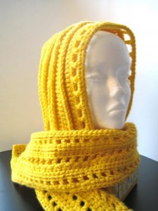 aesthetic hooded scarf free crochet pattern hood hat adult