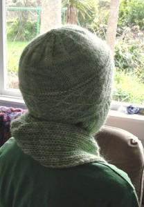 free knitting pattern hat scarf aviator beanie scoodie