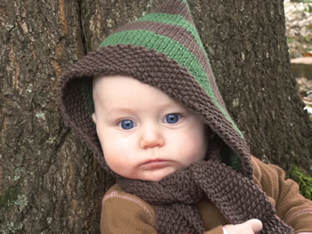 Knitting Pattern For Baby Hat And Scarf : Hood / Hat + Scarf = 10 Free Scoodie Patterns
