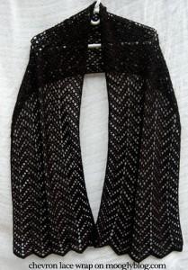 chevron lace wrap free crochet pattern moogly shawl scarf ripples lattice fingering thread