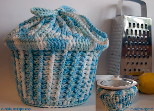cupcake crockpot cozy cover carrier slow cooker free crochet pattern potluck