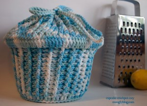 Cupcake crockpot cozy slow cooker recipes free crochet pattern potholder ribbed carrying case
