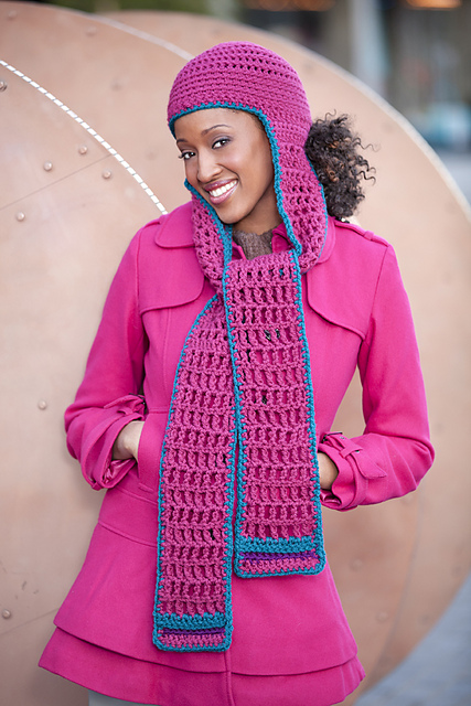 Crochet Patterns For Scarf And Hat : Hood / Hat + Scarf = 10 Free Scoodie Patterns