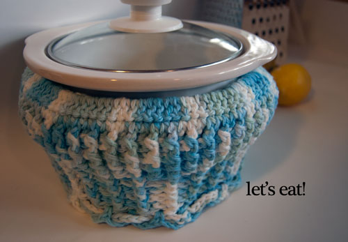 cupcake crockpot cozy free crochet pattern slow cooker rival cotton quart carrier cover