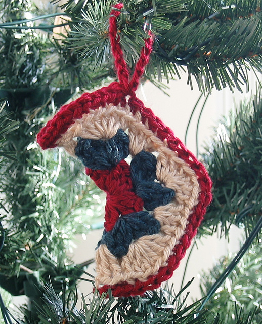 mini motif stocking doris chan hexagon free crochet pattern gift christmas