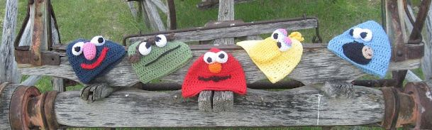 make muppet hats sesame street free crochet pattern beanie child adult