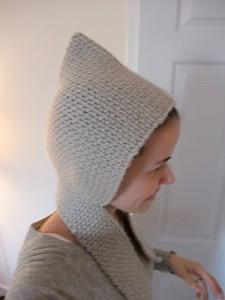 pixie hood scarf pattern free crochet vintage retro hoodie scoodie