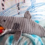 shark week pouch time free crochet pattern markers pencils child adult school