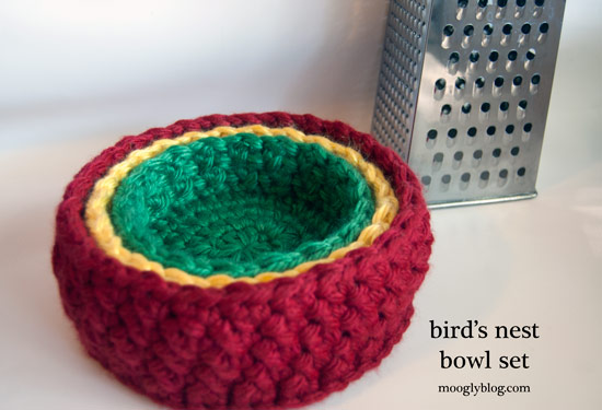 crochet container pattern birds nest bowl set free crochet pattern rainbow colors nesting decor