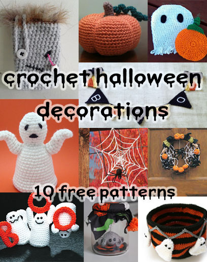 spooky and crafty crochet halloween decorations. Black Bedroom Furniture Sets. Home Design Ideas