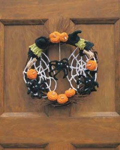 halloween crochet wreath pattern free crochet patterns free crochet halloween decorations