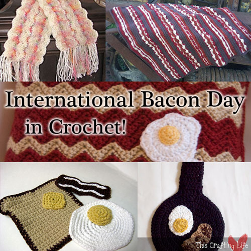 bacon free crochet patterns food breakfast roundup links list bacony eggs