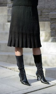 Hot Trend for Fall - Knit and Crochet Skirts! This one is ...