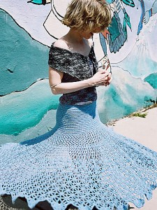 Spiderweb Skirt - featured on a Knit and Crochet Skirt Free Pattern roundup on mooglyblog.com