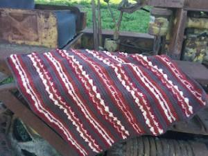 bacon baby blanket free crochet pattern