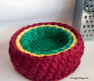 Free Pattern Birds Nest Bowl Set Crochet Container Pattern