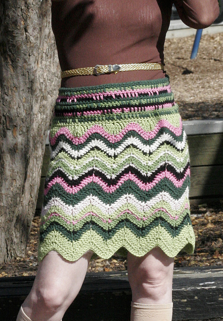 free knit crochet skirt patternschevron crochet missoni target zig zag free pattern tutorial tension magazine skirt fashion diy