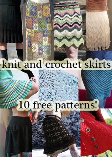 free knit skirt pattern free crochet skirt pattern links fall autumn fashion boots hot look trend