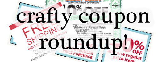 craft store coupons joann jo-ann fabrics hobby lobby michaels herrschners save money yarn
